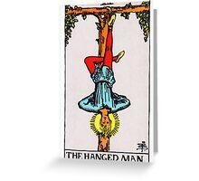 Tarot Card - The Hanged Man Greeting Card