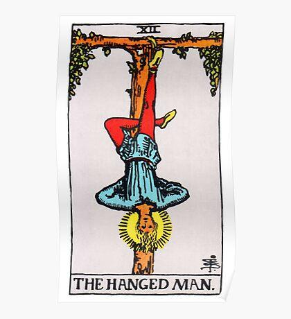 Tarot Card - The Hanged Man Poster