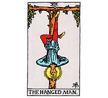 Tarot Card - The Hanged Man Photographic Print