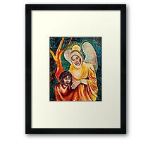 Angel in Gold Framed Print