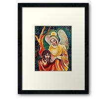 Angel in Gold Framed Print