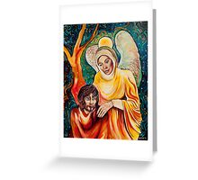 Angel in Gold Greeting Card