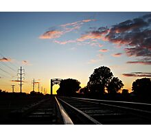 Trestle at Twilight Photographic Print