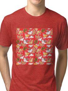 """Oro?"" Christmas Series Red Tri-blend T-Shirt"