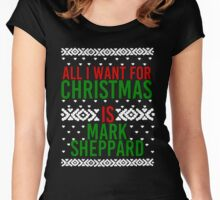 All I Want For Christmas (Mark Sheppard) Women's Fitted Scoop T-Shirt