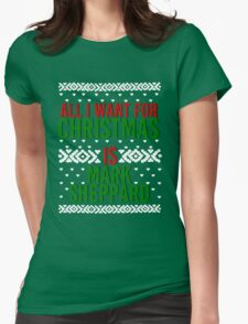All I Want For Christmas (Mark Sheppard) Womens Fitted T-Shirt