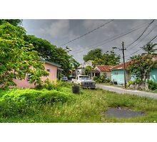Rural Village in Nassau, The Bahamas Photographic Print