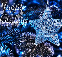 Blue Christmas - Happy Holidays by Shelley Neff