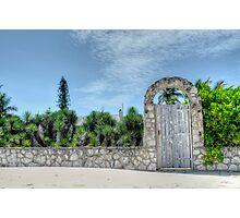 The Beach Gate on Paradise Island in Nassau, The Bahamas Photographic Print