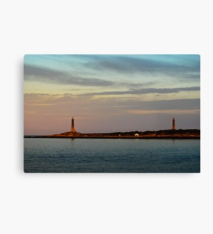 Thacher Island Lights as Dusk Canvas Print