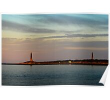 Thacher Island Lights as Dusk Poster