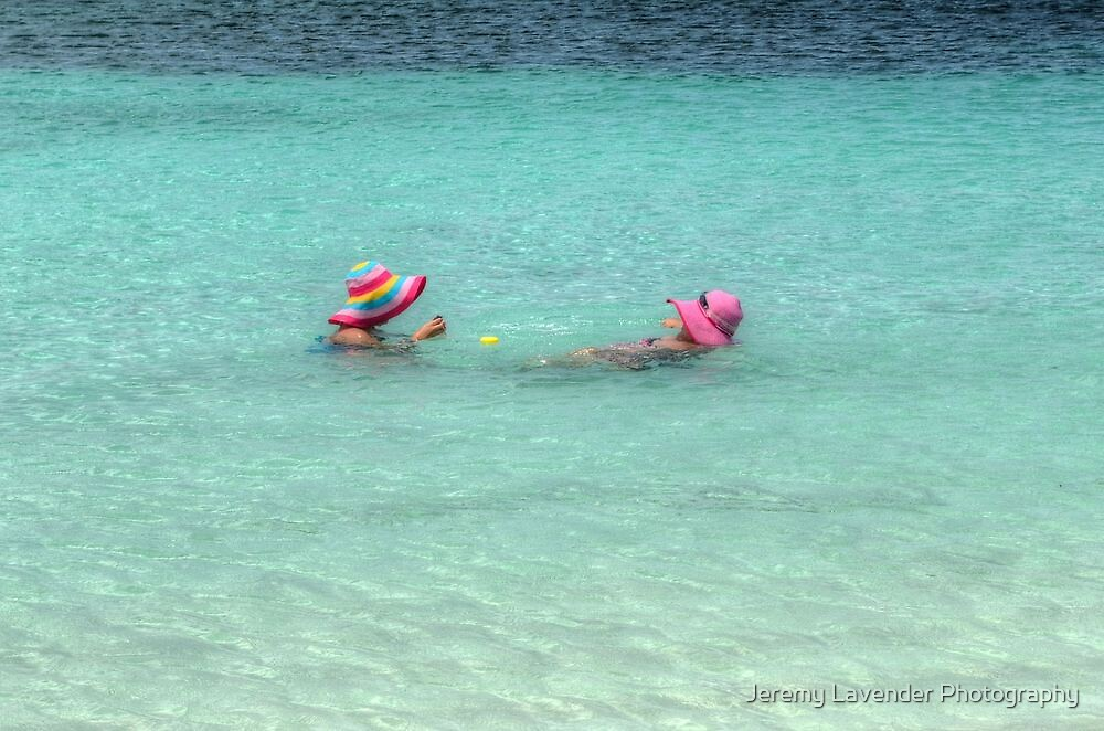 Enjoying the warm water in The Bahamas by Jeremy Lavender Photography
