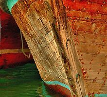 Dubai Creek Dhow Bow at Dhow Wharf by Ian Mitchell