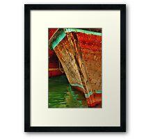 Dubai Creek Dhow Bow at Dhow Wharf Framed Print