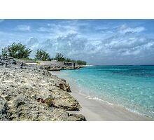 Beach in Paradise island, The Bahamas Photographic Print