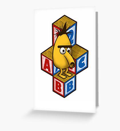 ABC-Bert Greeting Card