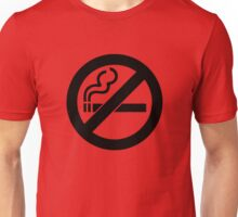 smoke  prohibited no smoking Unisex T-Shirt