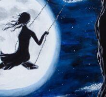 Moonlit Swing Sticker