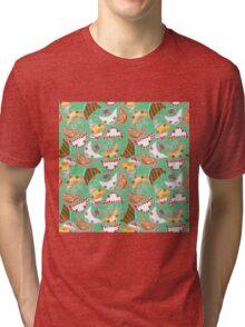 """Oro?"" Christmas Mint Tri-blend T-Shirt"
