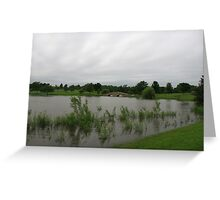 A slightly flooded Lisle Community Park Greeting Card