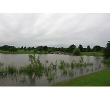 A slightly flooded Lisle Community Park Photographic Print