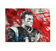 Tom Brady Red White and Blue Art Print