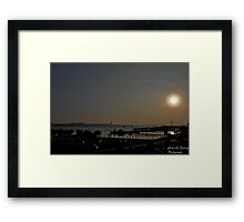 Sunset ove the bay Framed Print