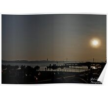 Sunset ove the bay Poster