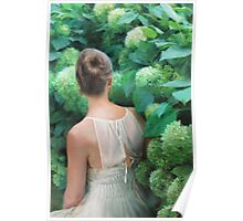 Among the Hydrangeas Poster
