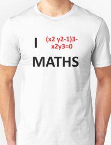 I Heart Maths  Unisex T-Shirt