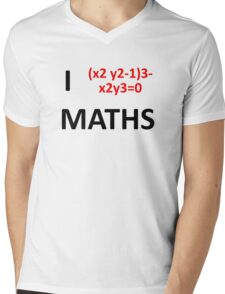 I Heart Maths  Mens V-Neck T-Shirt
