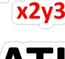 I Heart Maths  Sticker