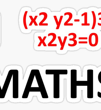 I Heart Maths  Sticker