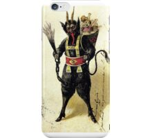 Krampus with a full sack iPhone Case/Skin