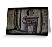 Deralict  fireplace. Greeting Card