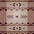 Native Pattern - Brown Tan Triangle by hmx23