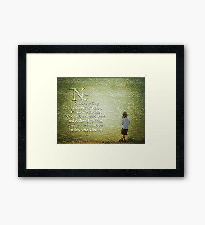 """Matthew 4:18 -""""Fishermen"""" Framed Print"""