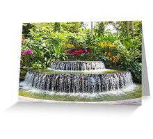 Ornamental attraction opposite the entrance of the National Orchid Garden in Singapore Greeting Card