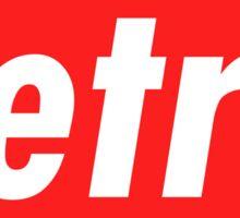 Retro - Red Sticker