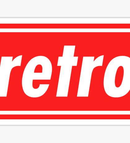 Retro - Red Sticker