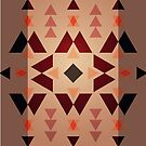 Native Pattern - Dark Brown Warm Contrast by hmx23