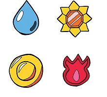 Kanto League Pokemon Badges by takohako