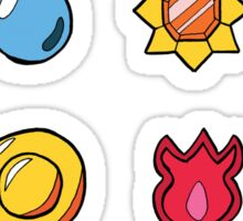 Kanto League Pokemon Inspired Badges Sticker