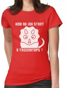 How do you start a Triceratops?! - Dr Who T-Shirt