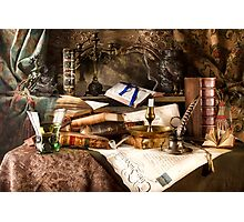 The Vanity of Gathering Knowledge & Wealth Photographic Print