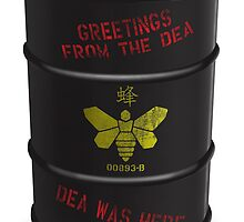 Greetings from the DEA (Breaking Bad) Greeting Card by breakingBlue