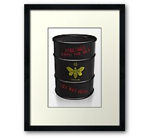 Greetings from the DEA (Breaking Bad) Greeting Card Framed Print