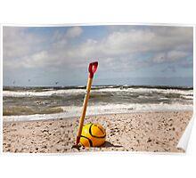 North Sea Waves Poster