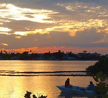 Boating at sunset by ♥⊱ B. Randi Bailey