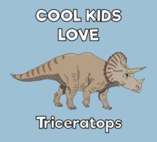 Cool kids love triceratops Kids Clothes